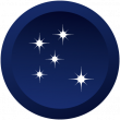 Icons earth-night sterne